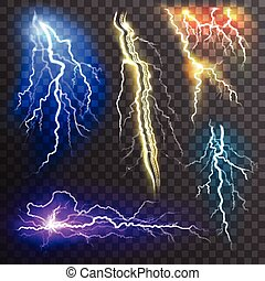 Lightning Transparent Set - Lightning transparent set in...