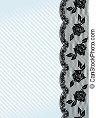 Vertical black French lace background