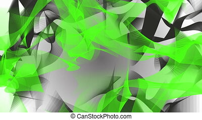 Abstract background in green and black on white