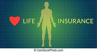 life insurance human silhouette - life insurance concepts...