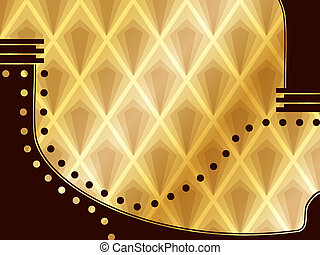 Elegant Art Deco Background - Elegant wood paneling...