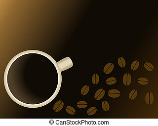 Coffee and Beans background