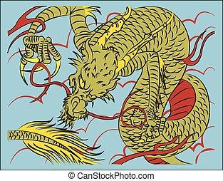伝統的である, 中国語, ドラゴン