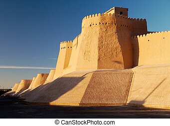 wall of Itchan Kala - Khiva - Uzbekistan - wall of Itchan...