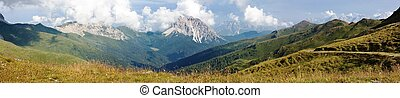 Panoramic view of Crode Dei Longerin - Alpi Carniche or...