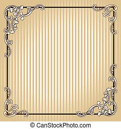Elegant square vintage sepia frame - Elegant sepia tone...