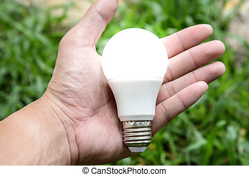 LED bulb with lighting - New technology of bulb