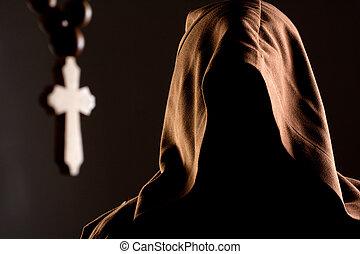 misterio,  unrecognizable, monje
