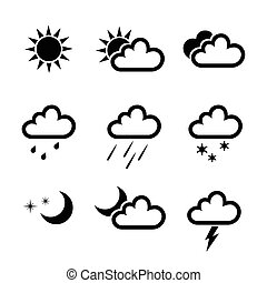 Vector weather icons collection - Weather icons collection...