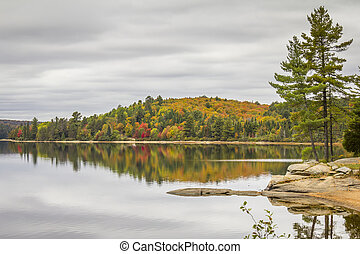 Lake in Autumn - Ontario, Canada