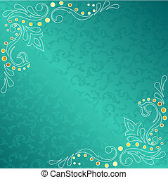 Turquoise frame with delicate sari inspired swirls - tylish...