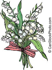 Lily of the valley - vintage engrav