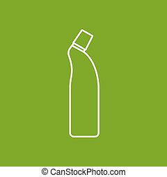 Vector outline icon - Vector outline cleaner bottle for...