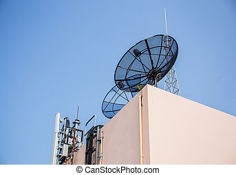 satellite and antenna