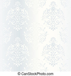 Intricate white satin wedding pattern
