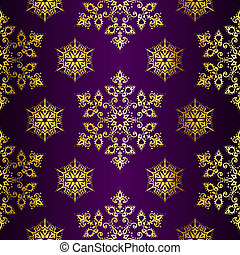 Purple and Gold seamless Christmas background - Seamless...