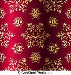 Red and Gold seamless Christmas background