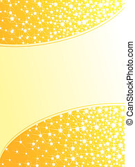 Bright yellow sparkly background, vertical