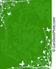 Springtime grunge background - bright background design for...