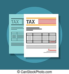 Taxes and money - Taxes money and payment graphic design,...