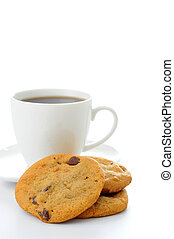 Chocolate Chip Cookies - Stack of homemade chocolate chip...