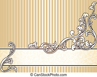 Elegant vintage sepia banner, horizontal - Elegant sepia...