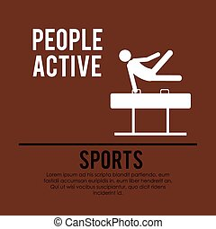 people active design, vector illustration eps10 graphic