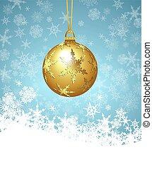 Christmas Bauble Snowflake - Christmas Bauble on a Snowflake...