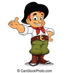 Gaucho cowboy cartoon