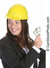 businesswoman with earnings