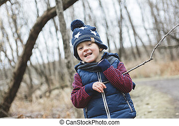 boy in the park - A boy in the park Portrait of a boy on...