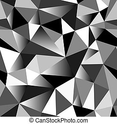 Abstract grayscale gradient geometric rumpled triangular...