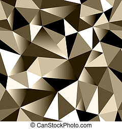 Abstract bronze gradient geometric rumpled triangular...