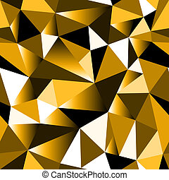 Abstract golden gradient geometric rumpled triangular...