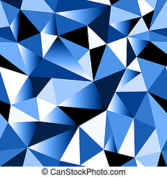 Abstract blue gradient geometric rumpled triangular seamless...