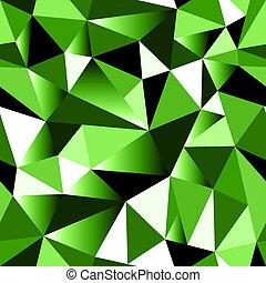 Abstract green gradient geometric rumpled triangular...