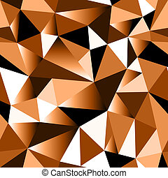 Abstract brown gradient geometric rumpled triangular...