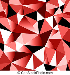 Abstract red gradient geometric rumpled triangular seamless...