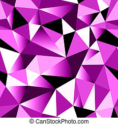 Abstract rose gradient geometric rumpled triangular seamless...