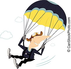 Skydiver - Comic skydiver derives enjoyment from jumping