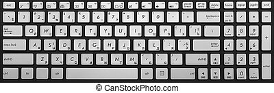 cromo,  laptop, moderno, isolato, nero, tastiera