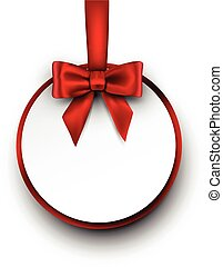 Greeting card. - Greeting card with bow. Vector paper...