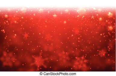 Winter card. - Red winter card with snowflakes. Vector paper...