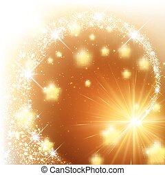 Golden sparkling background.