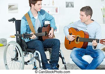 Handicapped guitarist
