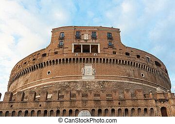 Castel Santangelo in Rome, Italy - Castel Santangelo in a...