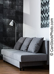 Comfortable gray sofa - Picture of comfortable gray sofa...
