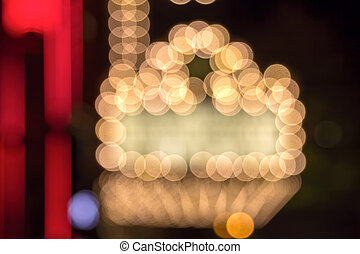Broadway Theater Marquee Lights Bokeh - Marquee Lights on...