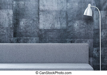 Gray design room - Picture of gray design room with simple...
