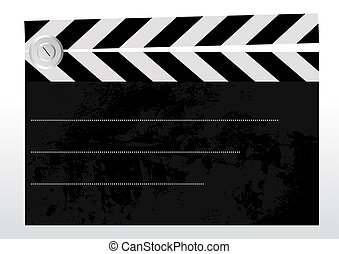Clapboard - Editable vector background - old grungy textured...
